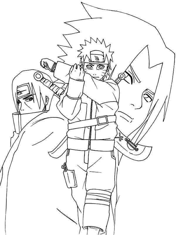Naruto Shippuden Coloring Page Naruto Shippuden Coloring