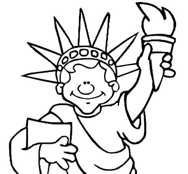 new jersey statue of liberty coloring page
