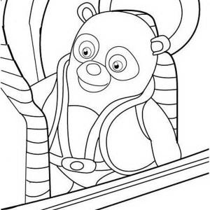 Special Agent Oso on Mission Coloring Page Special Agent Oso on