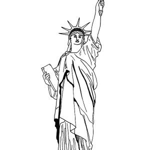 new york statue of liberty coloring page grover cleveland
