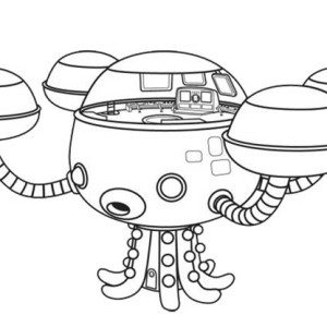 Octopod The Octonauts Octopus Submarine Coloring Page