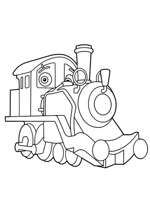 Chuggington Old Puffer Pete From Coloring Page