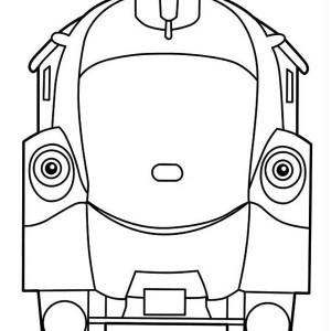 Olwin from Chuggington Coloring Page