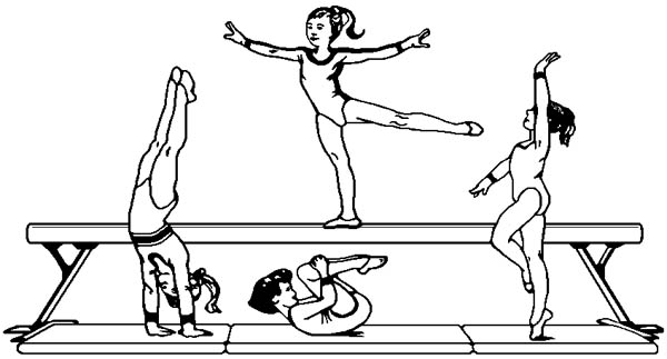 Olympic Gymnastic Coloring Page Olympic Gymnastic
