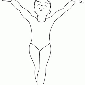 olympics gymnastics finish in gymnastic coloring page - Handy Manny Hammer Coloring Pages