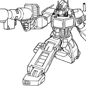 Transformers Optimus Prime Bazooka Of Coloring Page