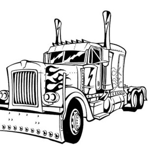 transformers optimus prime transform to transformers coloring page optimus prime transform to transformers coloring - Optimus Prime Truck Coloring Page