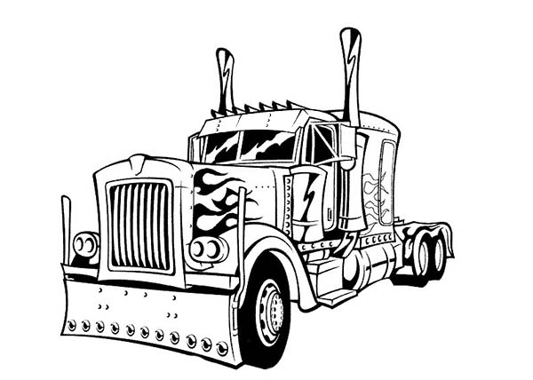 Transformers, Optimus Prime Transform To Transformers Coloring Page: Optimus  Prime Transform To Transformers Coloring
