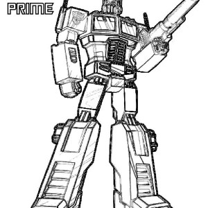 Optimus Prime from Transformers Coloring Page Optimus Prime from