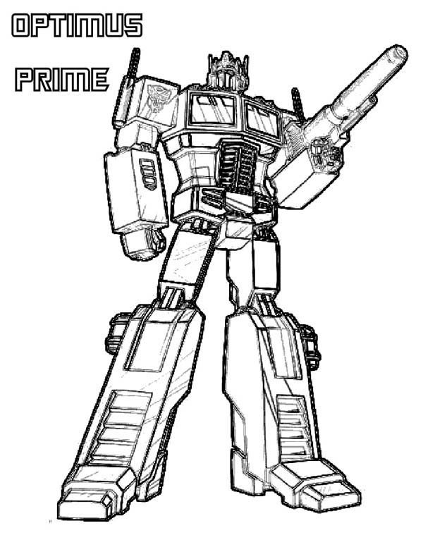 optimus prime from transformers coloring page - Transformers Coloring Pages