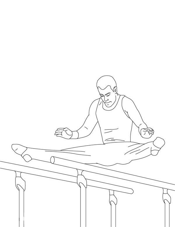 bar gymnastics coloring pages - photo#20