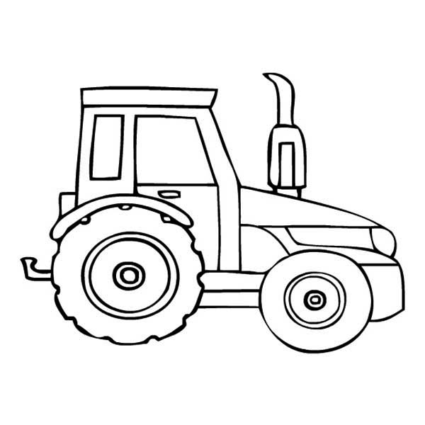 Parking Tractor Coloring Page Download Print Online Coloring