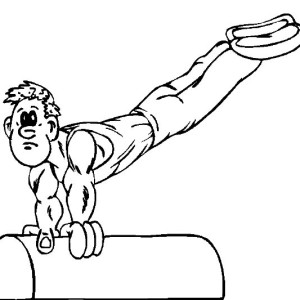 Perfect Balance Beam Gymnastic Coloring Page
