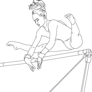 Perfect Score Of High Bar In Gymnastic Coloring Page