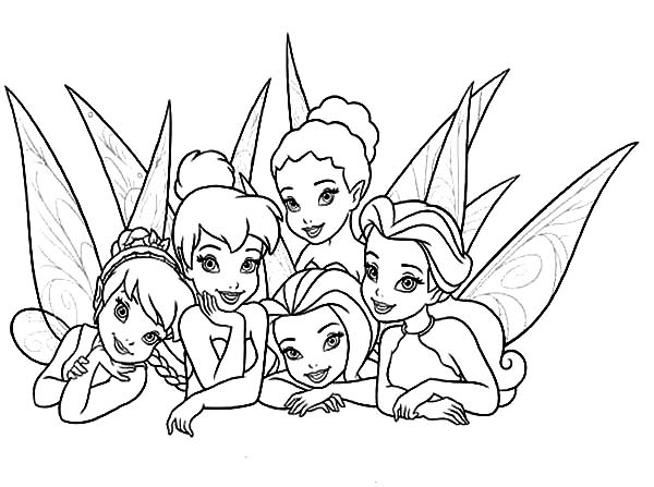 picture of beautiful disney fairies coloring page - Fairies Coloring Pages