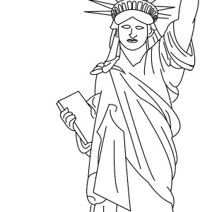 statue of liberty color page - how to draw christmas candle coloring pages download