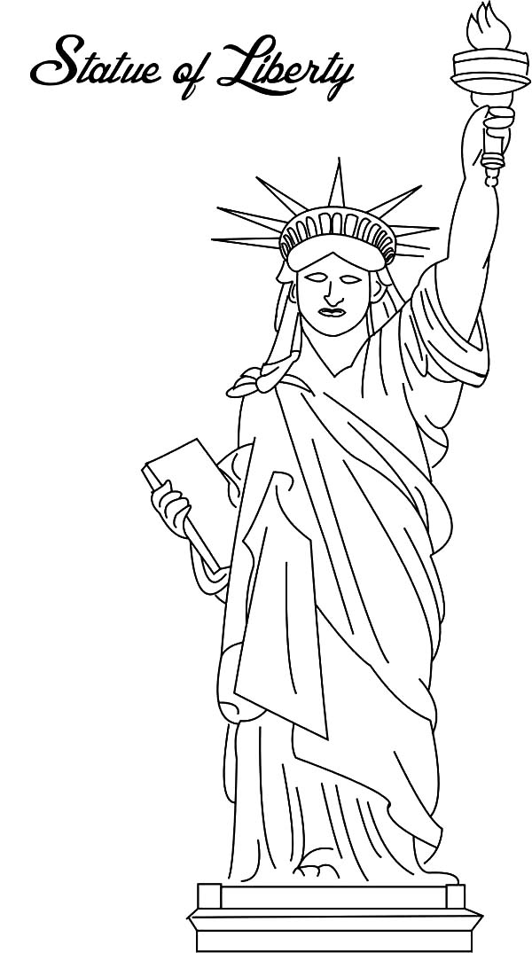 Picture of Statue of Liberty Coloring Page Download Print