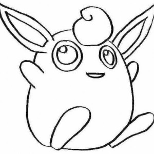 Cute little girl swimming on the beach coloring page for Jigglypuff coloring page