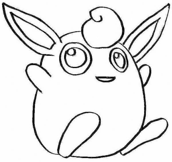 Pokemon Jigglypuff Jumping Coloring Page