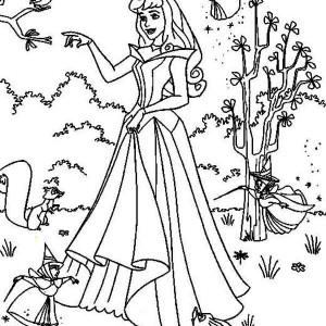 princess aurora poster coloring page
