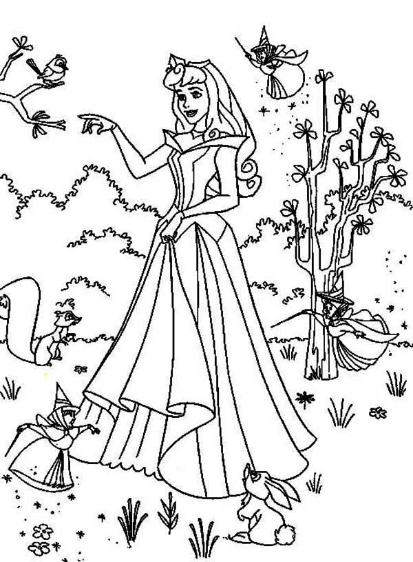Princess Aurora Poster Coloring Page Download Print