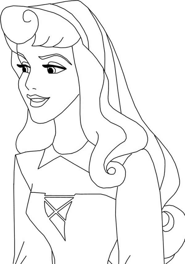 Princess Aurora Smile Coloring Page