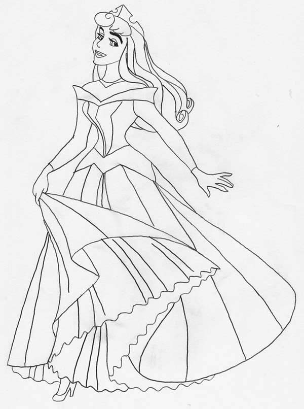 Princess Aurora Very Beautiful Picture Coloring Page  Download