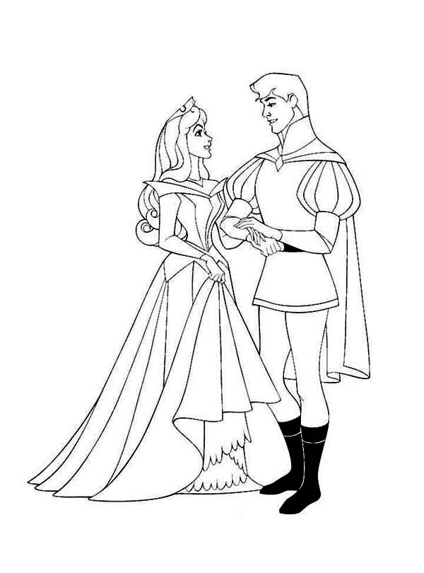Princess Aurora And Prince Phillip Sing And Dance Together