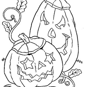 Pumpkins for Halloween Day Coloring Page