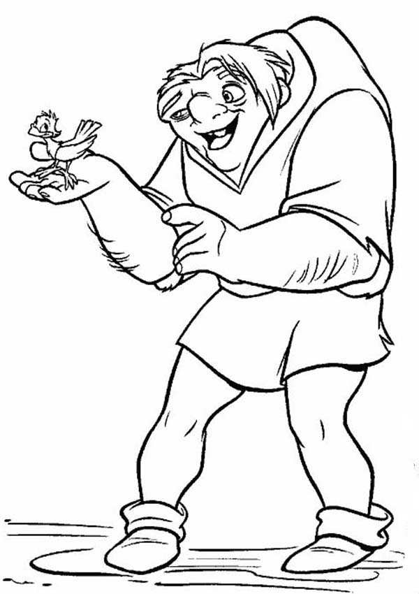 Hunchback Of Notre Dame Quasimodo Talking To A Bird In The
