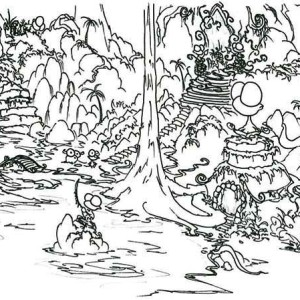 Rainforest Trees Coloring Page Rainforest Trees Coloring Page