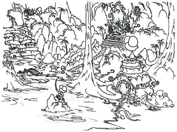 Print Rainforest Picture Coloring Page In Full Size