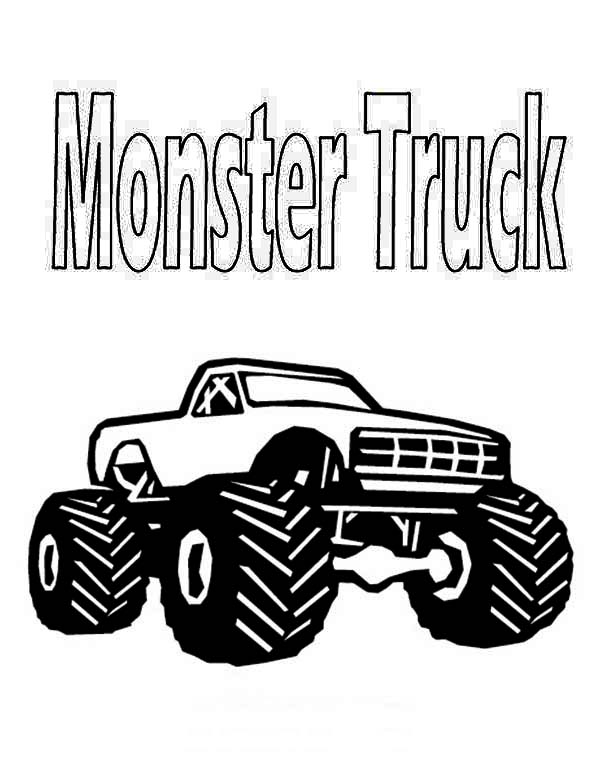Real Monster Truck Coloring Page