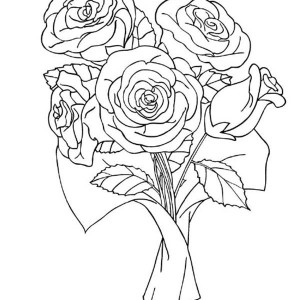 rose with two leaves coloring page rose with two leaves coloring