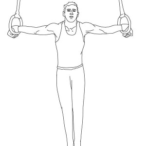 Rings Artistic Gymnastics in Gymnastic Coloring Page