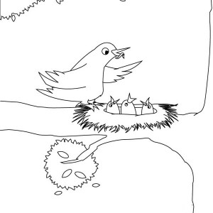 creative coloring birds art activity pages to relax and enjoy | Four Butterflies Flying on the Park Coloring Page ...