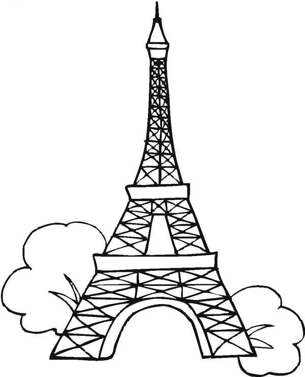 Seven Wonders of the World Eiffel Tower Coloring Page Seven