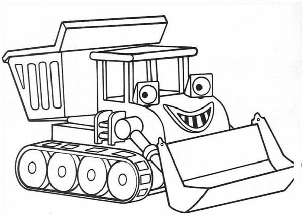 chuggington smiling scoop from chuggington coloring page