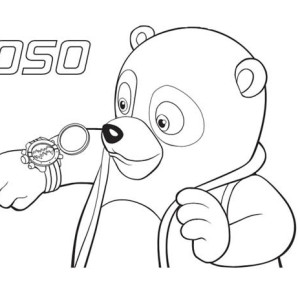 Special agent oso new watch for Special agent oso coloring pages