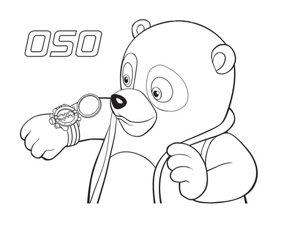 Special Agent Oso New Watch Coloring Page Special Agent Oso New
