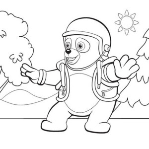 Special Agent Oso on Mission Coloring Page