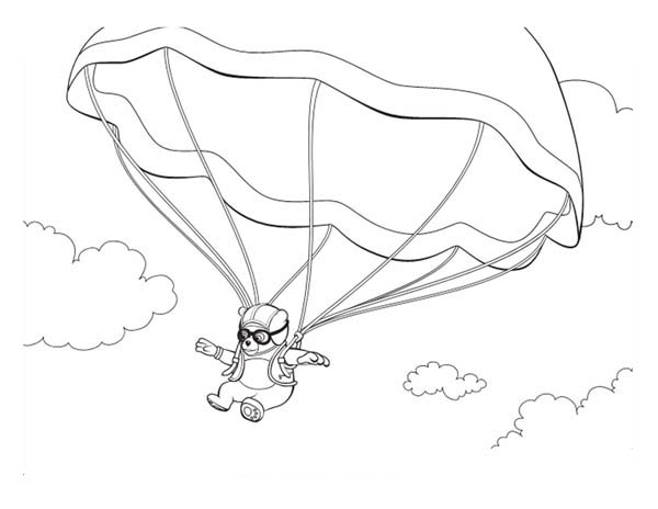 Special Agent Oso on Parachute