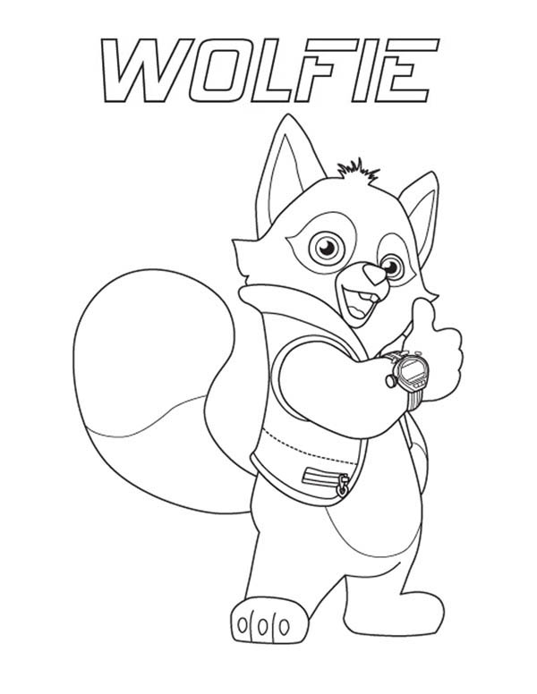 Special Agent Wolfie of Special Agent Oso Coloring Page Download