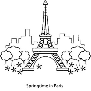 eiffel tower springtime in paris with eiffel tower
