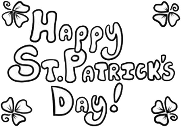 St Patricks Day Backdrop Decoration Coloring Page
