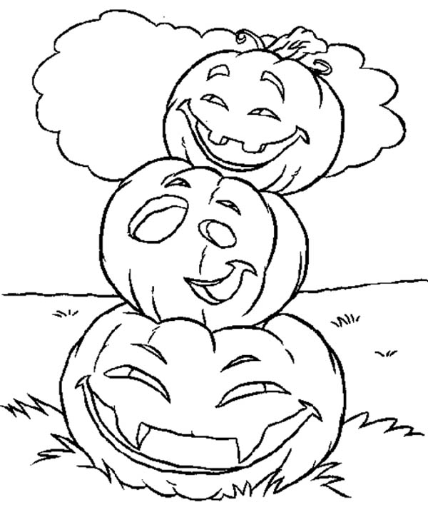 Stacking Halloween Pumpkins Coloring Page - Download & Print Online ...