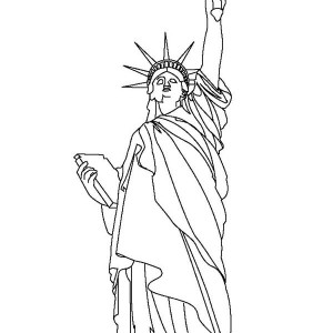statue of liberty coloring page