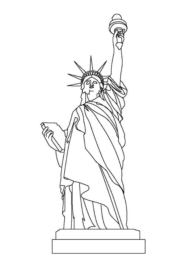 Statue of Liberty Coloring Page Download Print Online Coloring