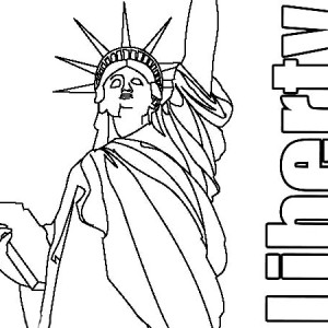 Statue of Liberty Image Coloring Page