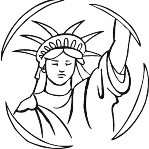 statue of liberty statue of liberty in the circle coloring page statue of liberty